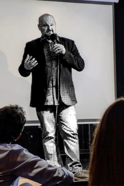 Christian A. Dumais on stage