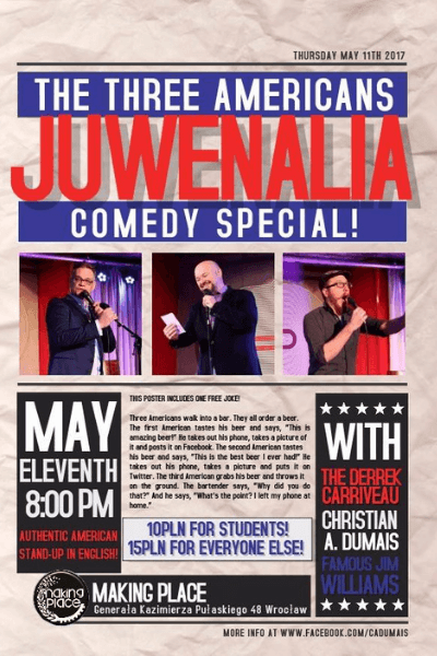 The Three Americans comedy show